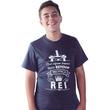 Camiseta Juvenil Mal Algum Temerei pois estou na presença do Rei
